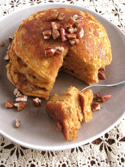 Sweet Potato Pie Pancakes for One | desserts | Pinterest