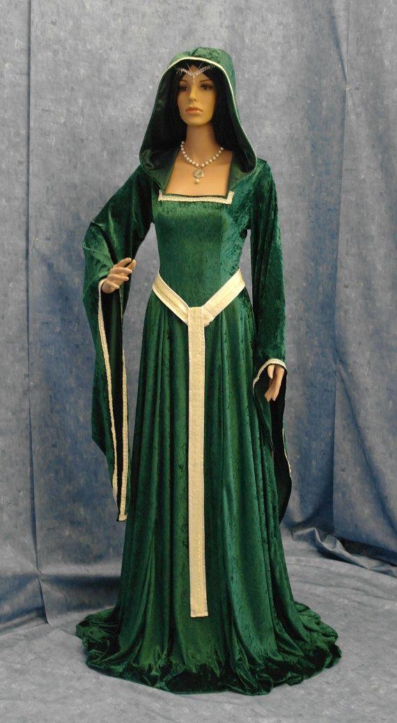 medieval renaissance Celtic ELVEN FAIRY dress custom made