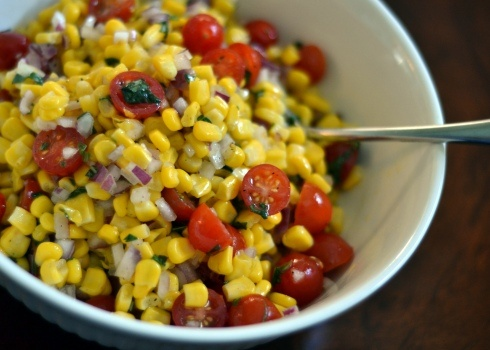 Summer Corn, Tomato and Basil Salad - A perfect side dish for anything ...