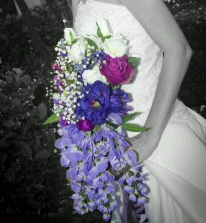 Pinned by Samantha LowePurple And Silver Wedding Flowers