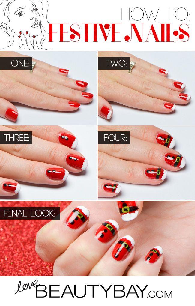 Santa Claus Manicure | #EssentialBeauty | BeautyBay.com