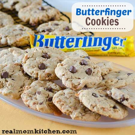 Butterfinger Cookies - Real Mom Kitchen | Recipes--Cookies | Pinterest
