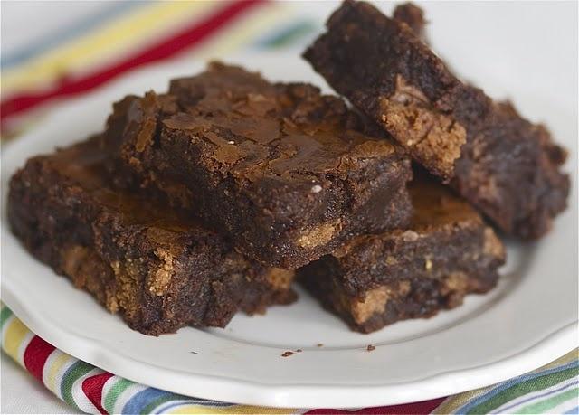 Reeses brownies....totally against the diet but look SOOO GOOOD!