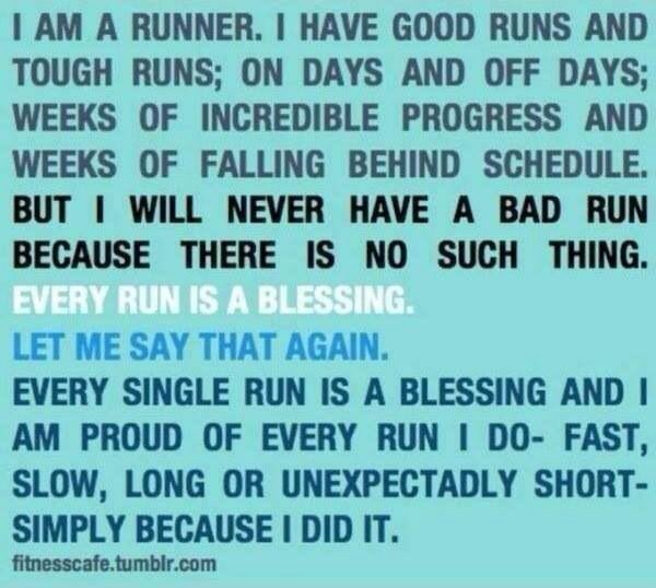 """Exactly!  I am so grateful I am able to run again after injuries I believed (at the time/through time) would be my undoing.  BUT with belief and determination and the """"all knowing"""" knowing more than me....I am running again!  So very thankful!"""