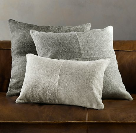 Living Room Pillows on Cowhide Pillows    K Living Room