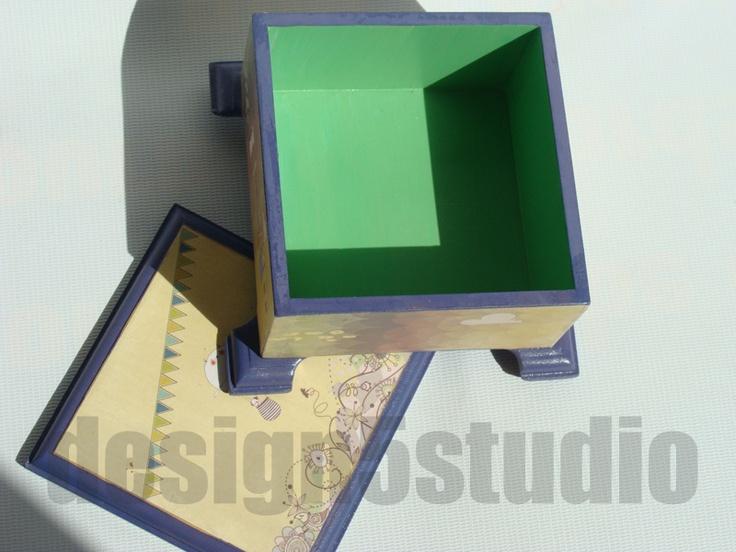Handmade Decoupaged Wooden Home Decor Accessories Decoupage Keepsake Box Tray Coasters
