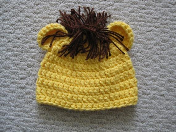 How To Crochet A Lion : Crochet Lion Hat. 14.00, via Etsy.