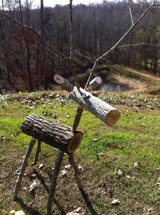 Wooden Log Reindeer Plans Image Mag