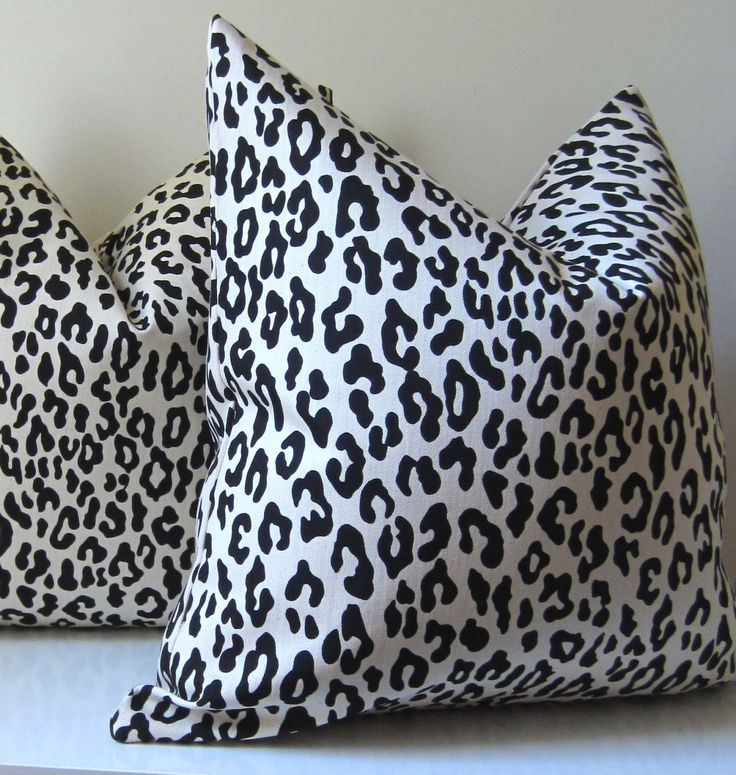 Animal Print Pillow Covers - Decorative Pillow Cover - 20 inch - Leop?