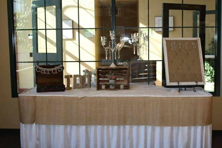 Wedding Gift Table Ideas Pinterest : Gift table - burlap rustic wedding The Lucky One Pinterest
