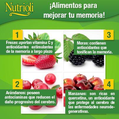 #Alimentos para mejorar tu #memoria  #nutricion #salud #bienestar