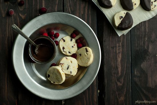 Jelly Toast: chocolate dipped cranberry orange shortbread cookies ...