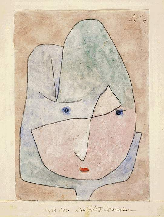 This flower wishes to fade, 1939  Paul Klee