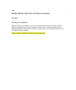 Decision Making Paper - Research Paper - Mbreid