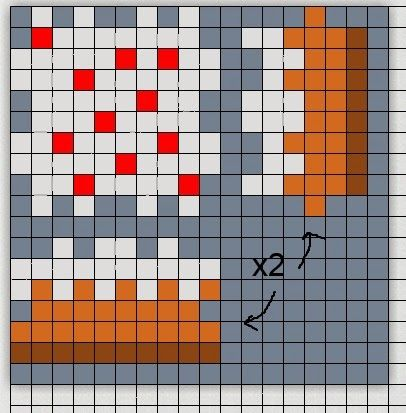 3-d Minecraft cake perler bead chart | cake decorating ...