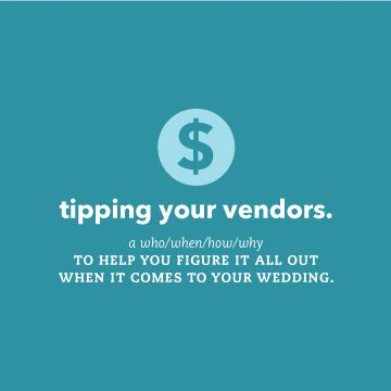 Who when why how to tipping your wedding vendors