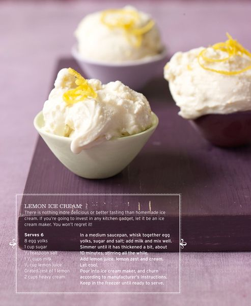 Lemon Ice Cream | Sweet Paul Magazine - Spring 2010 - Page 50-51