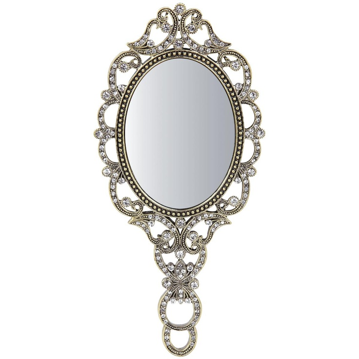 Hand mirror by gothic hand mirror miroir face main for Mirror design images
