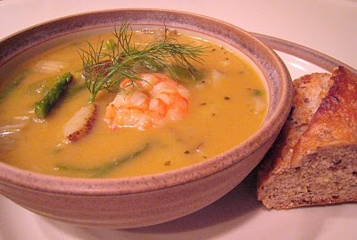 Roasted Asparagus and Shrimp Chowder | Soups | Pinterest