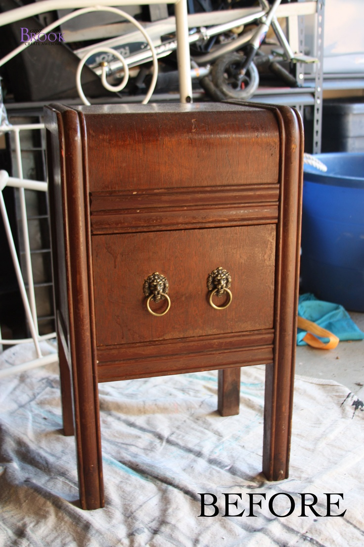 Ugly night stand before | Furniture re-dos