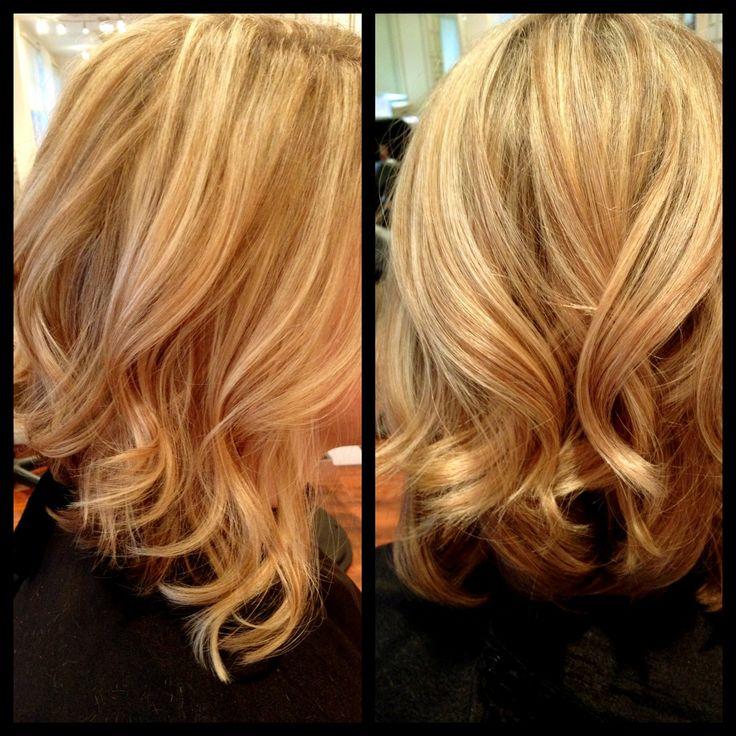 Longer a-line bob with a few curls added! #hair | My Work | Pinterest