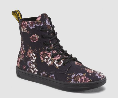 Luxury Boots Doc Martens Floral Footwear Pink Womens