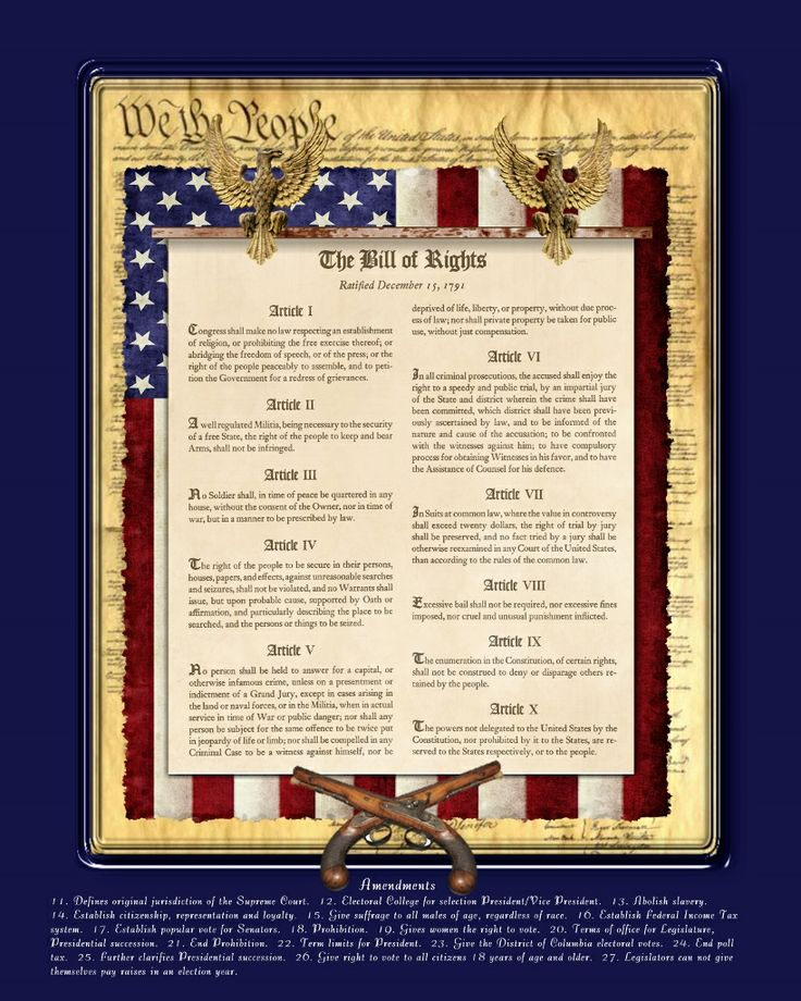 This is a photo of Enterprising Printable Copy of the Bill of Rights