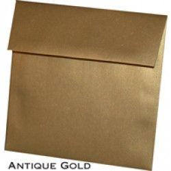 """... Metallic Antique Gold - Square (5-1/2 x 5-1/2"""") Envelope 100 Pack"""