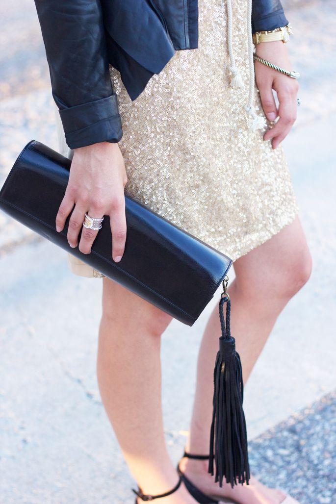 gold + leather + tassel : Minimal + Classic