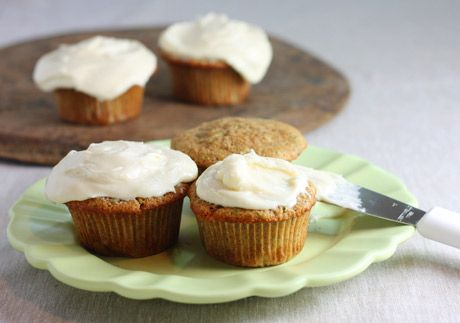 Zucchini Cupcakes with Maple Cream Cheese Frosting