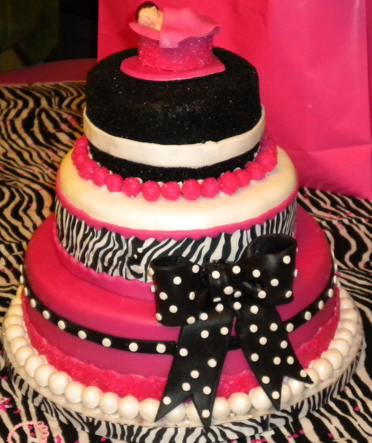 zebra baby shower cake party planning pinterest