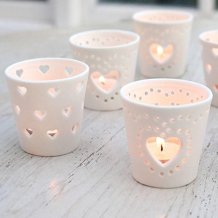 Ceramic Heart Tea Light Holder