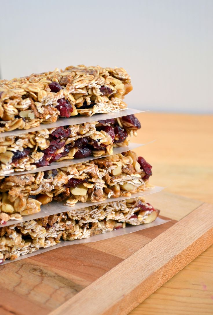 Chewy No-Bake Cinnamon Cranberry Granola Bars(Dairy-Free, Nut-Free, G ...