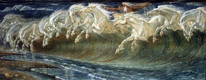 Neptune's Horses, Walter Crane | Sea legs | Pinterest