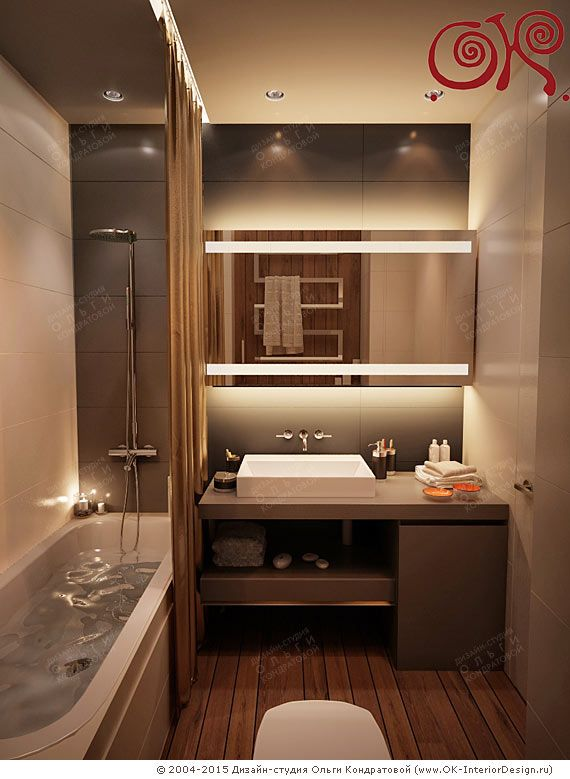 Современный дизайн для маленькой ванной комнаты 2017