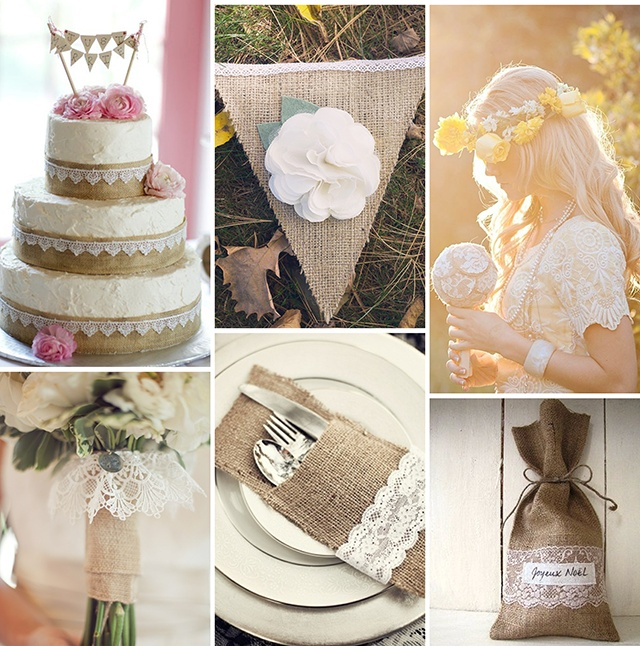 burlap and lace wedding ideas wedding bells pinterest. Black Bedroom Furniture Sets. Home Design Ideas