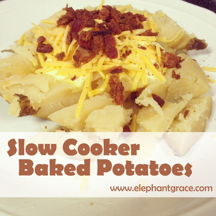 slow cooker baked potatoes | cooking | Pinterest