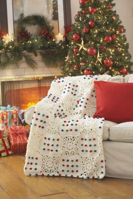Loops & Threads™ Impeccable™ Crochet Snowflake Afghan