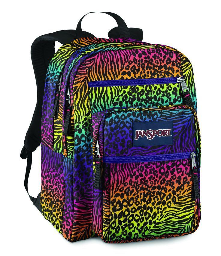 Multi colored Jansport backpacks for girls