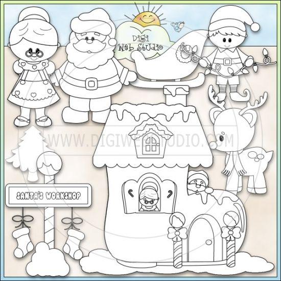 santas workshop coloring pages - photo#27