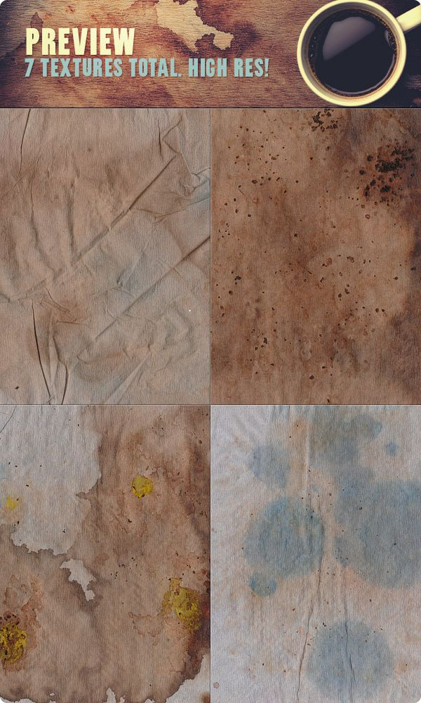 Coffee stain textures