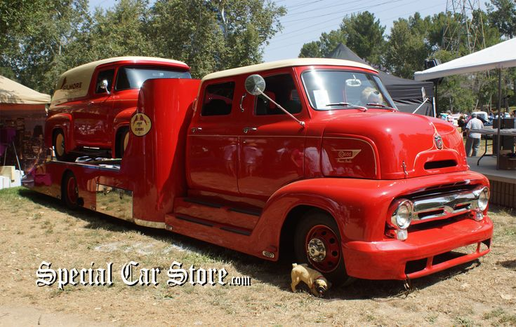 1953 Ford COE Hauler with 1956 Ford Panel Truck- Burbank Road Kings