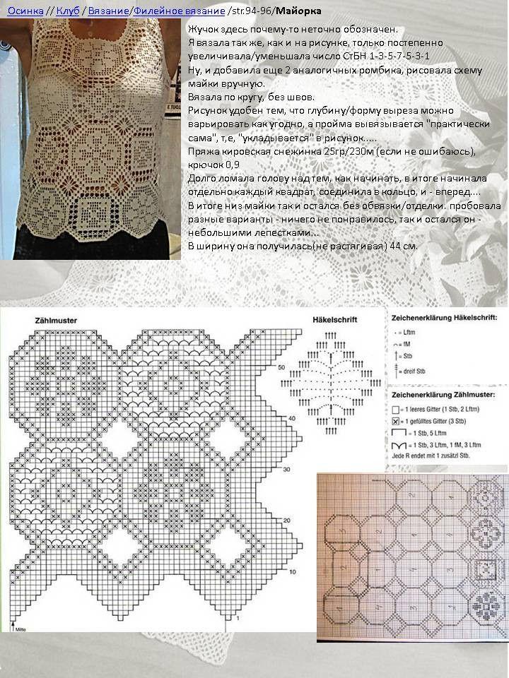 Схемы вязания моделей филейным вязанием 84