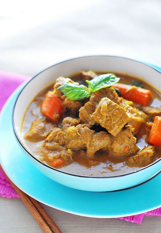 Coconut Beef Curry Stew. I'll probably make this again. I halved the ...
