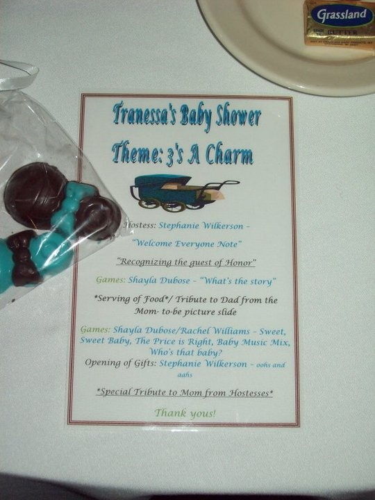 custom baby shower program for each guest keeps everything organize