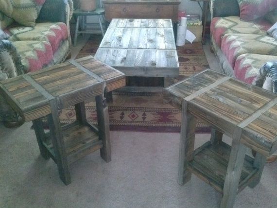 Rustic living room table set by nsscreations on etsy 400 00
