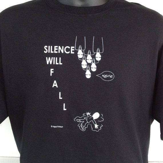Doctor Who TShirt Silence Will Fall by DareWearbyNaniWear on Etsy   17    Doctor Who The Silence Will Fall