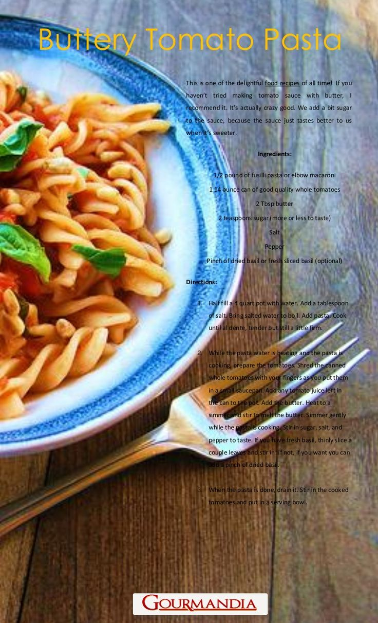 Buttery Tomato Pasta | PASTO AND NOODLE | Pinterest