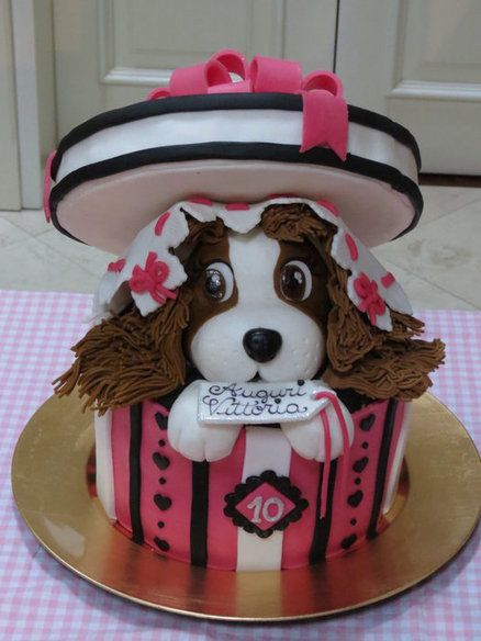 dog cake Cake by serena70 Cake/Cake Pops Pinterest