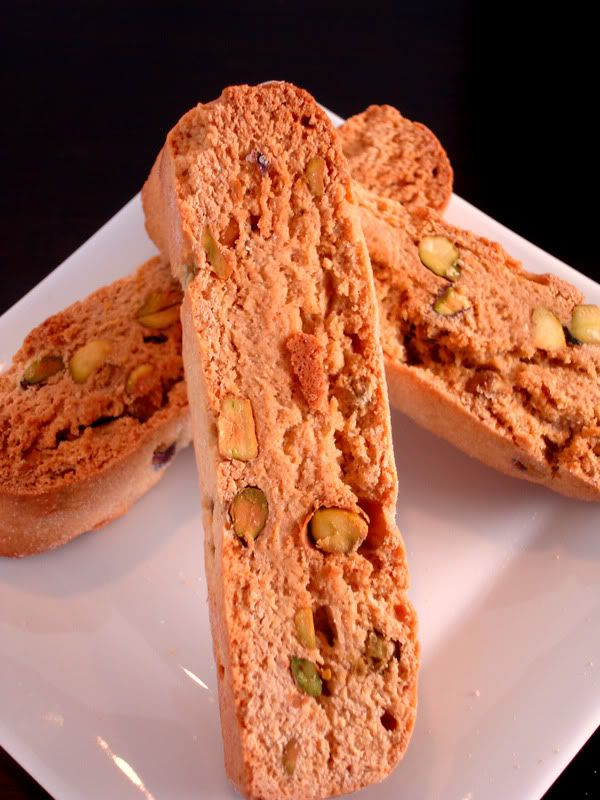 Honey Pistachio Biscotti Courtesy of Ellie Krieger